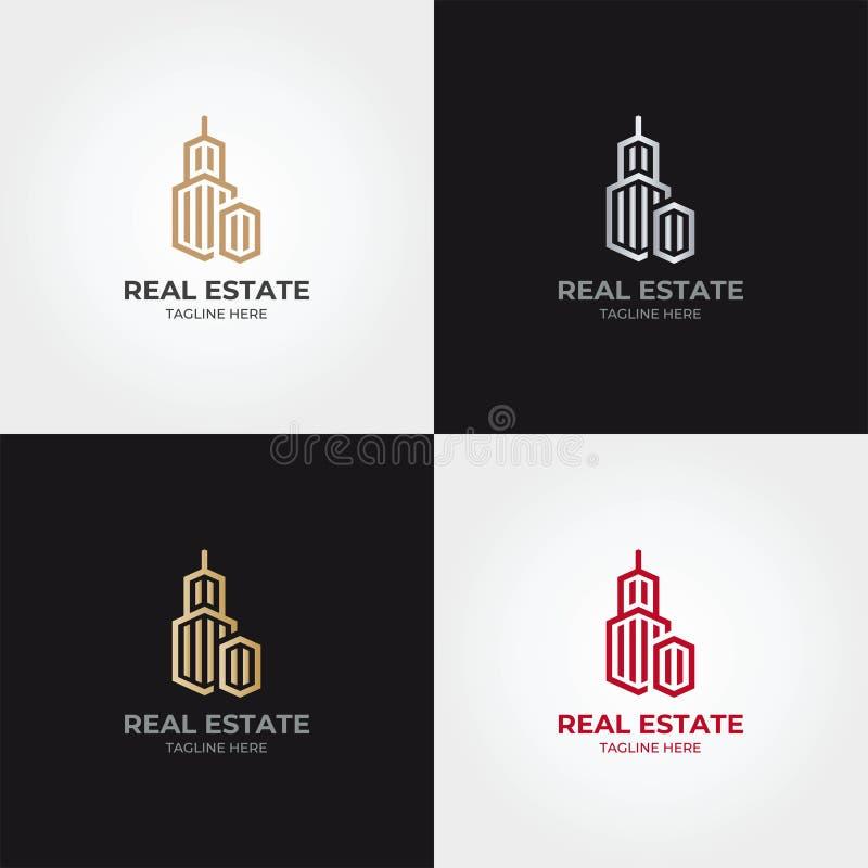 Calibre d'icône de logo d'immobiliers photographie stock
