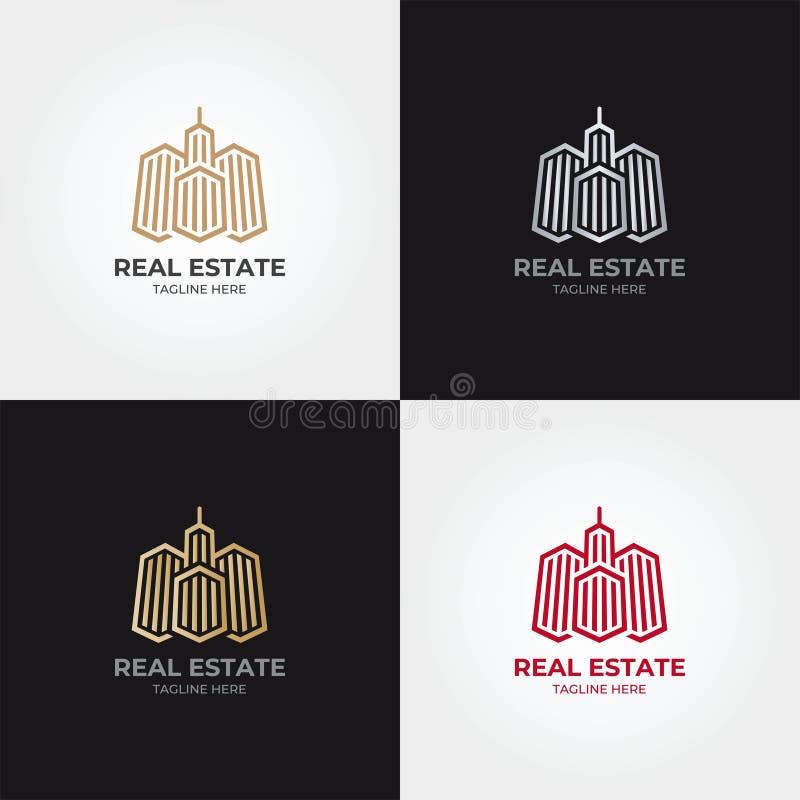 Calibre d'icône de logo d'immobiliers image stock