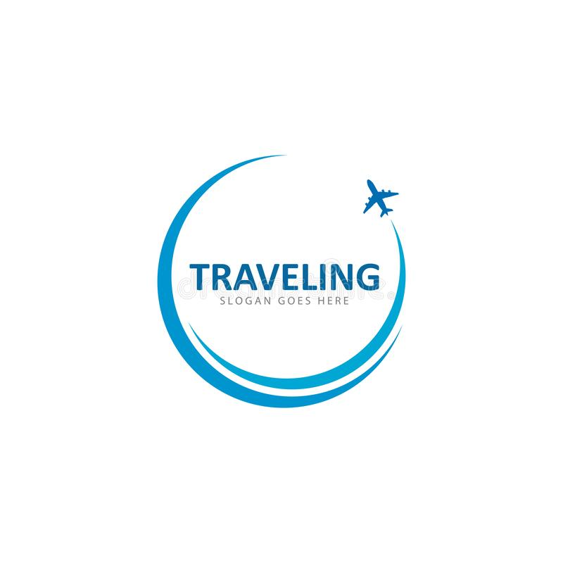 Calibre d'icône de vecteur de logo de voyage illustration de vecteur