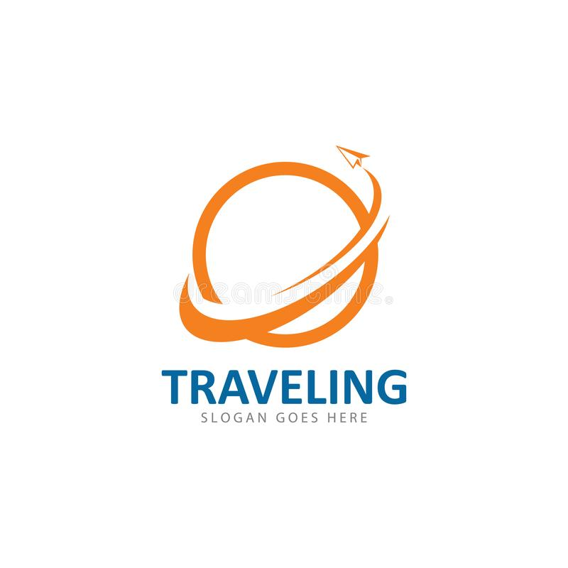 Calibre d'icône de vecteur de logo de voyage illustration stock