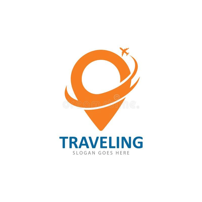 Calibre d'icône de vecteur de logo de voyage illustration libre de droits