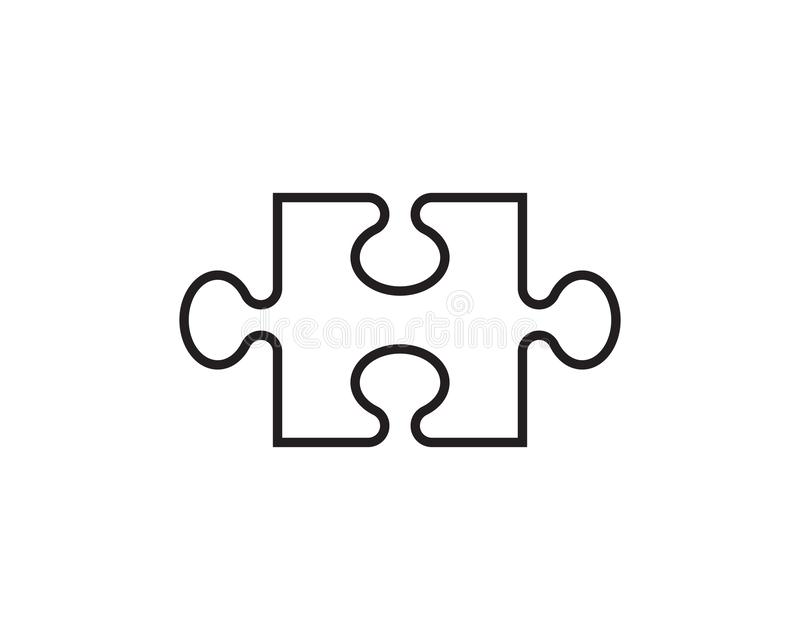 Calibre d'icône de vecteur de puzzle illustration stock
