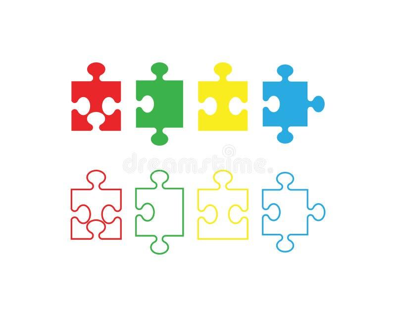 Calibre d'icône de vecteur de puzzle illustration libre de droits