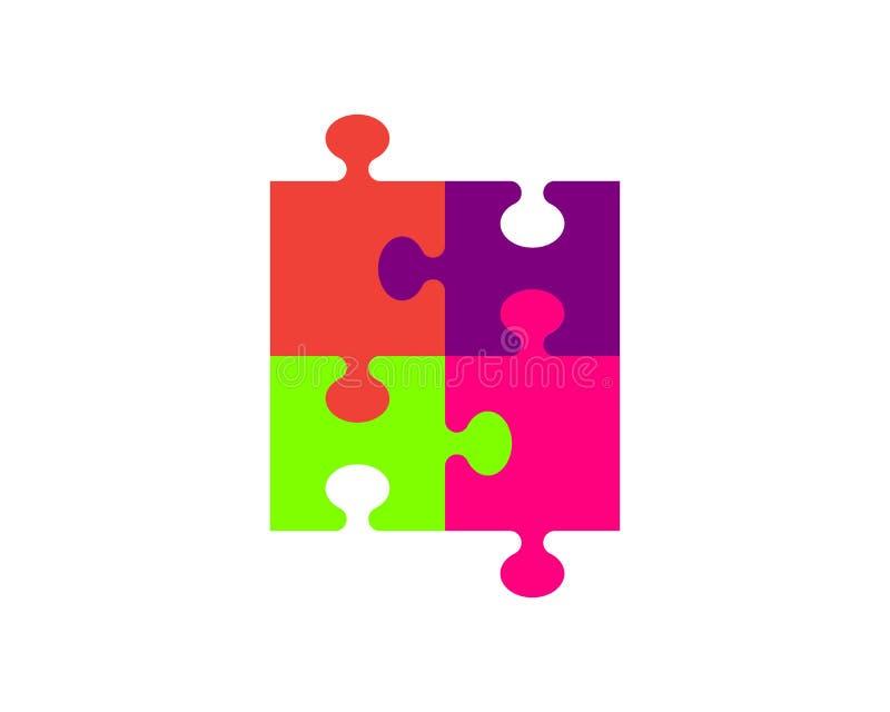 Calibre d'icône de vecteur de puzzle illustration de vecteur
