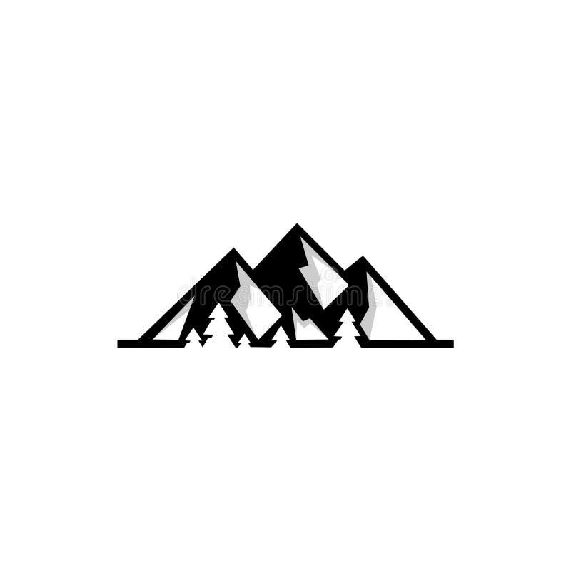Calibre d'icônes de logo de montagne illustration de vecteur