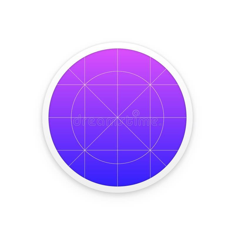 Calibre d'icône d'application avec des directives, grilles illustration stock