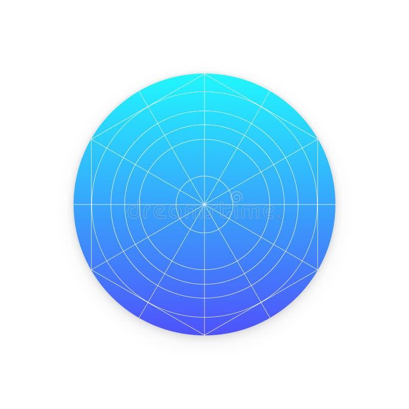 Calibre d'icône d'application avec des directives, grilles illustration libre de droits