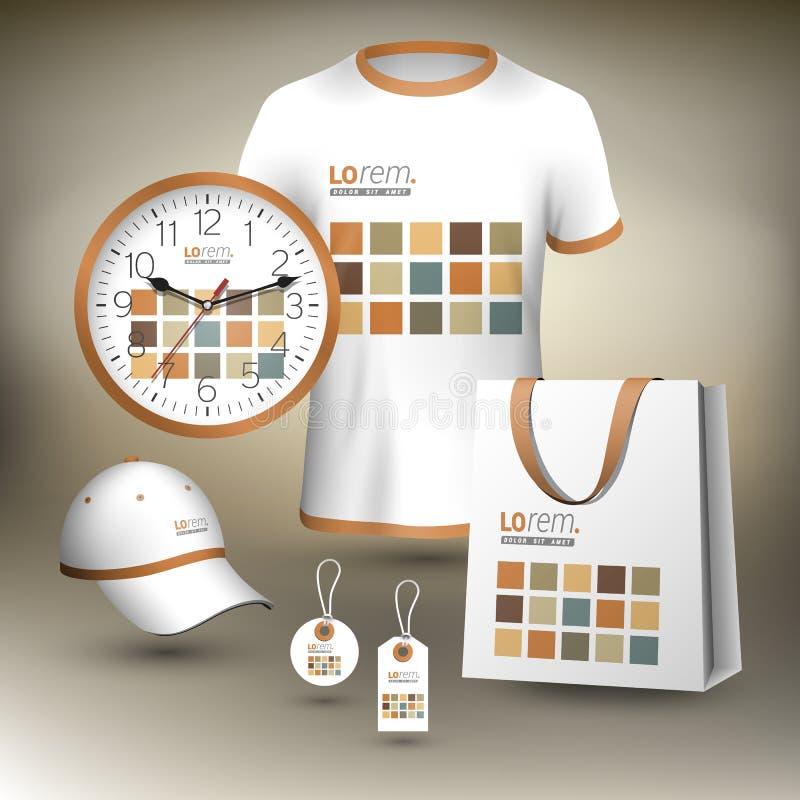 Calibre d'identité d'entreprise et cadeaux promotionnels illustration de vecteur