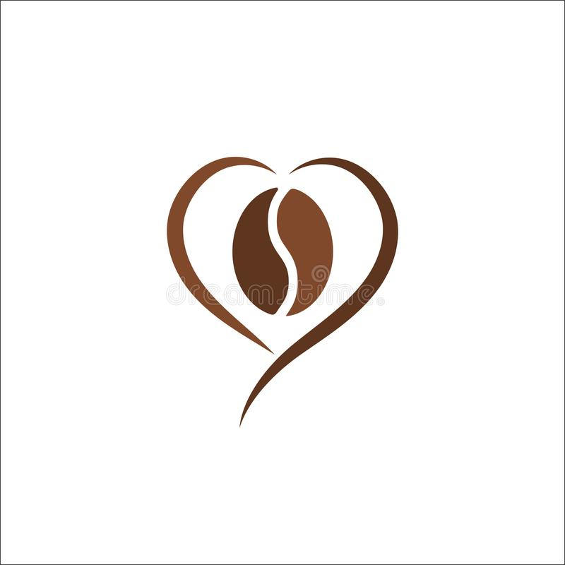 Calibre d'illustration de vecteur de conception d'abrégé sur logo de grain de café illustration libre de droits