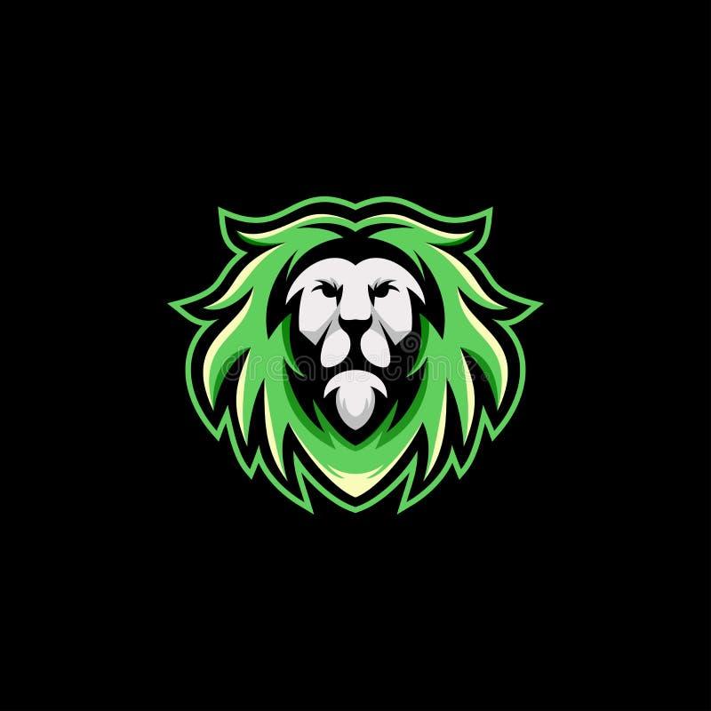 Calibre d'illustration de vecteur de conception de logo de lion prêt à employer illustration libre de droits
