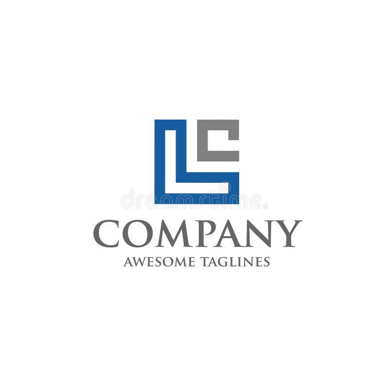Calibre d'illustration de vecteur de conception de logo de lettre de LC, illustration stock
