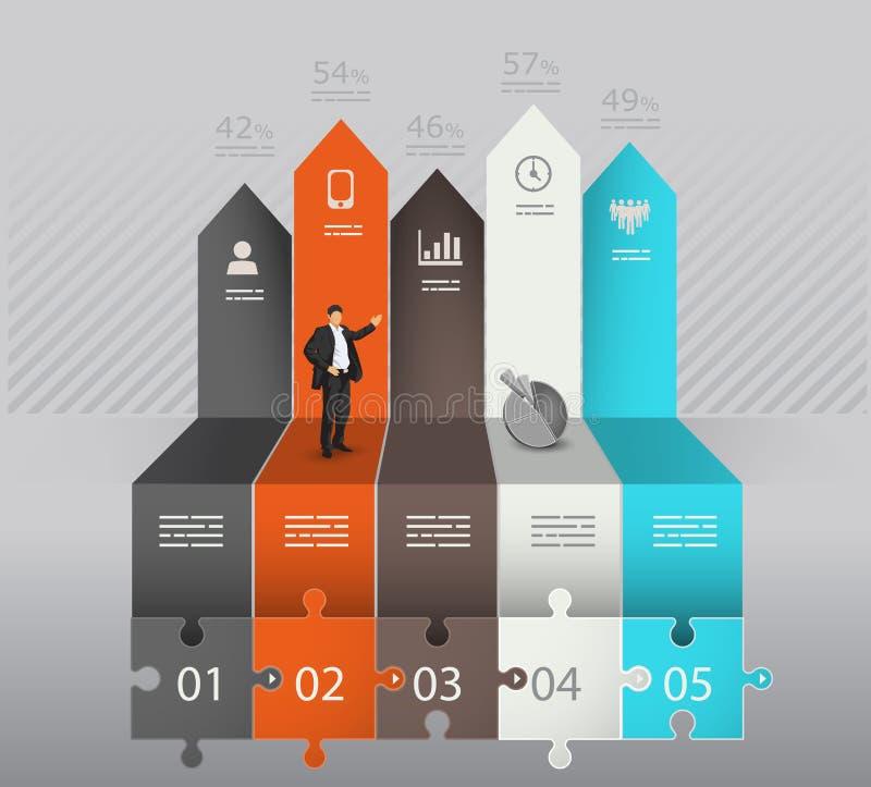 Calibre d'Infographic avec des flèches illustration de vecteur