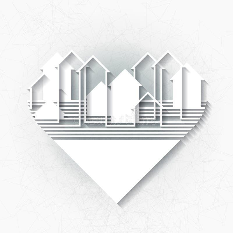 Calibre d'Infographic avec la silhouette abstraite de ville illustration de vecteur