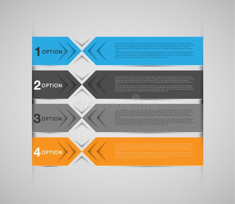 Calibre d'Infographic, bannières colorées abstraites illustration libre de droits