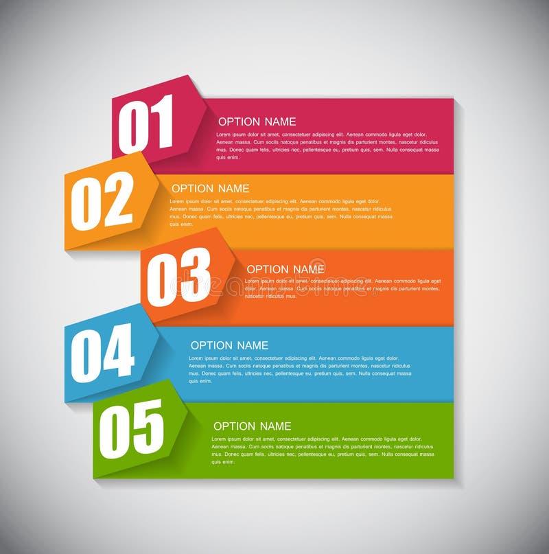 Calibre d'Infographic pour le vecteur d'affaires illustration stock