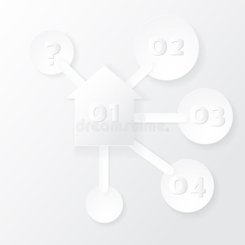 Calibre d'Infographics avec des icônes de maison et de choix illustration libre de droits