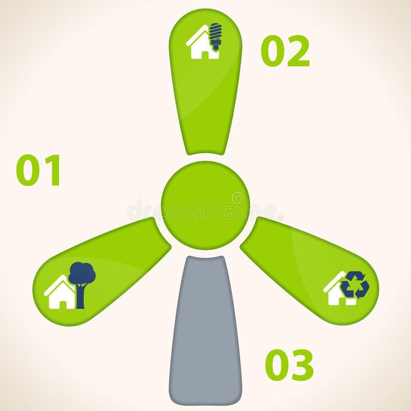 Calibre d'infographics d'affaires d'écologie illustration libre de droits