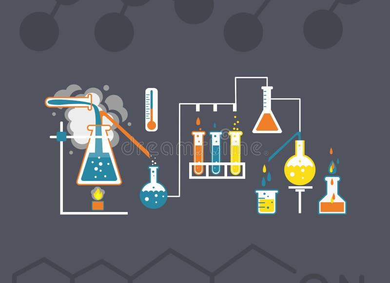 Calibre d'infographics de chimie illustration stock