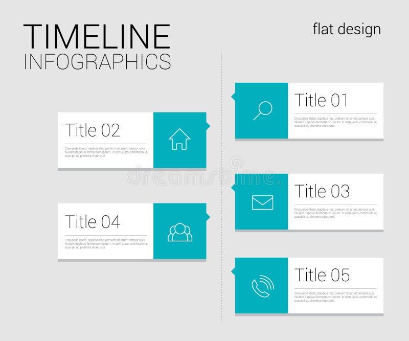 Calibre d'infographics de chronologie illustration de vecteur