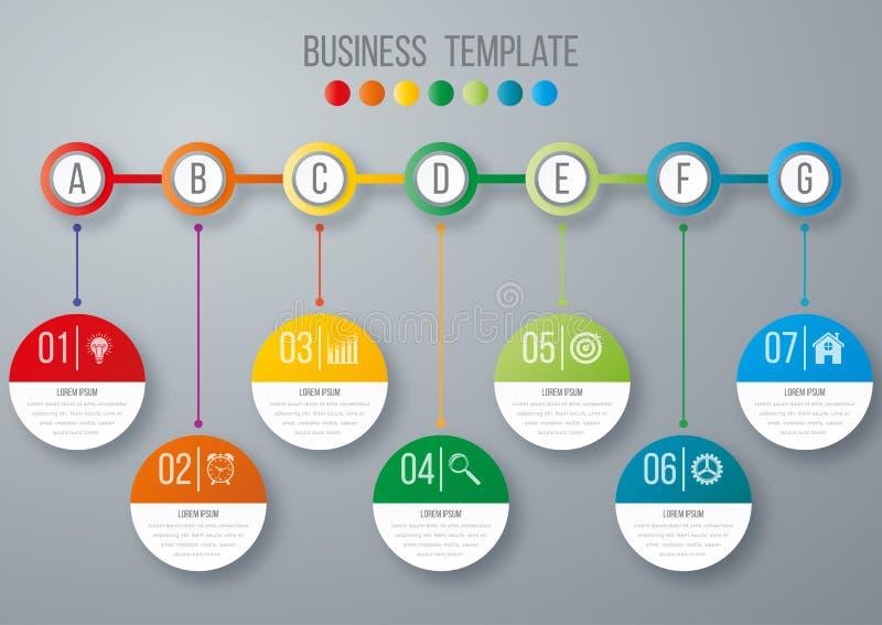 Calibre d'infographics de chronologie illustration stock