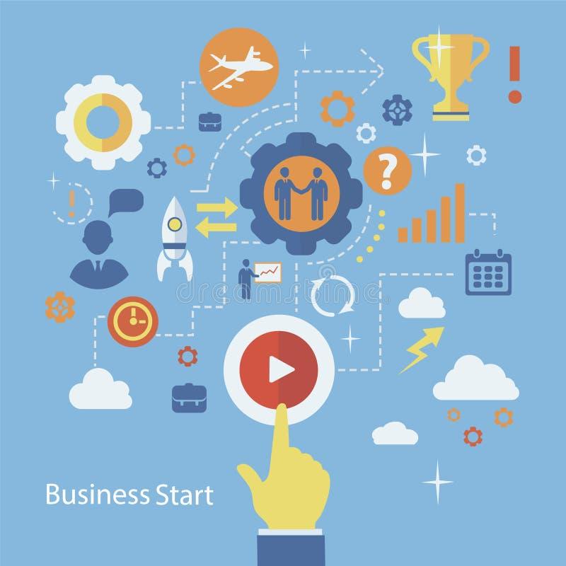 Calibre d'infographics de début d'affaires Plan avec illustration libre de droits