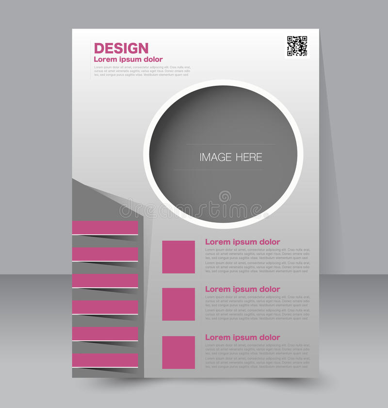 Calibre d'insecte Brochure d'affaires Affiche A4 Editable illustration de vecteur