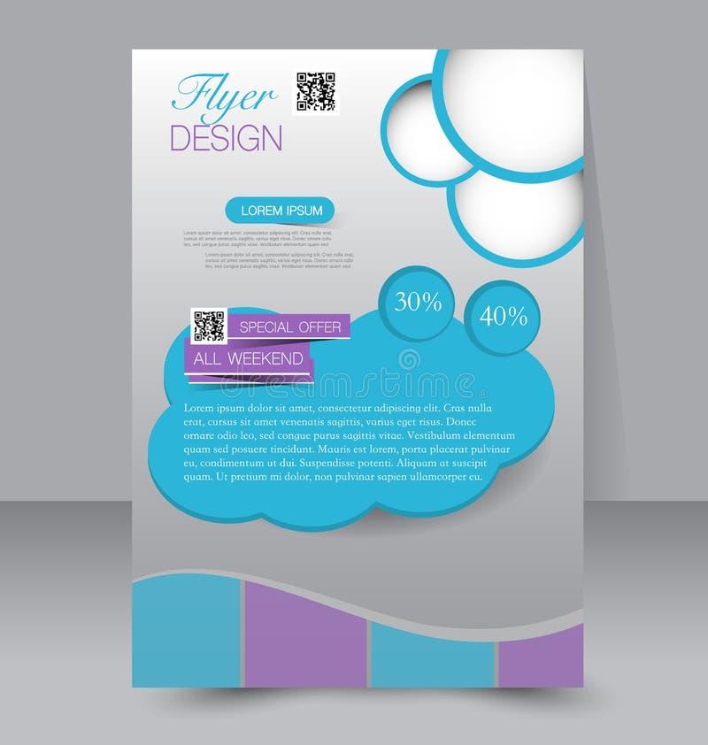 Calibre d'insecte Brochure d'affaires Affiche A4 Editable illustration libre de droits