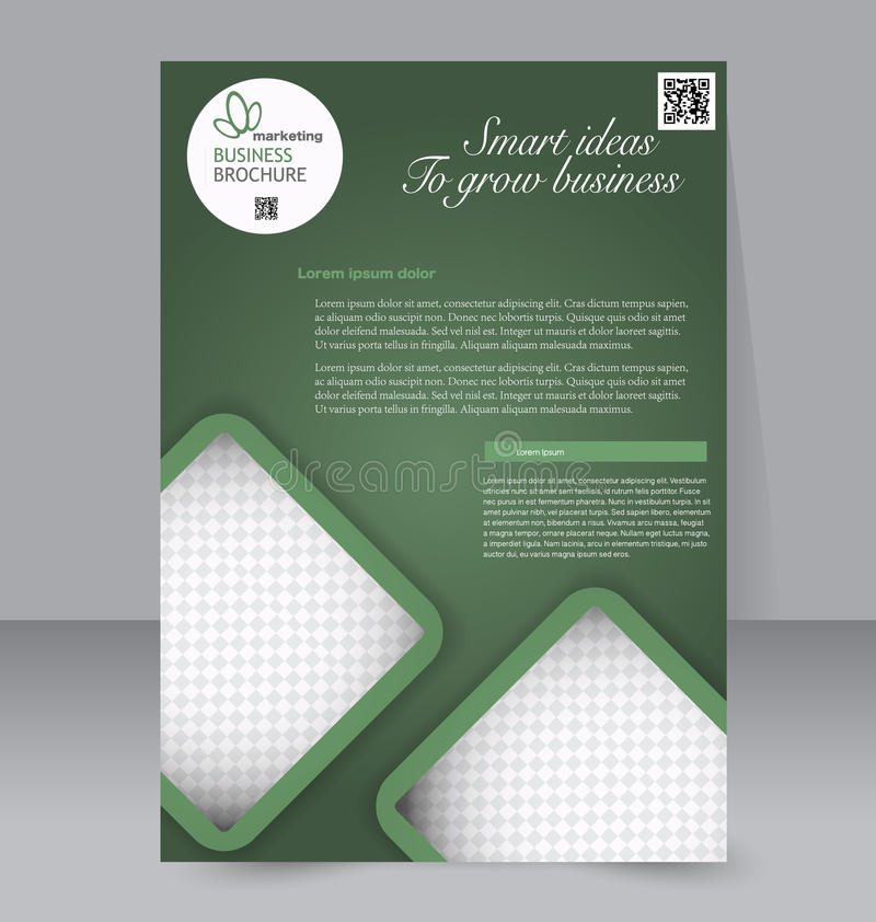 Calibre d'insecte Brochure d'affaires Affiche A4 Editable pour la conception illustration stock