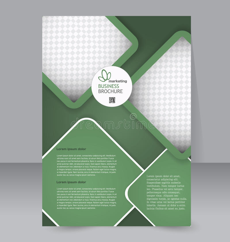 Calibre d'insecte Brochure d'affaires Affiche A4 Editable pour la conception illustration libre de droits