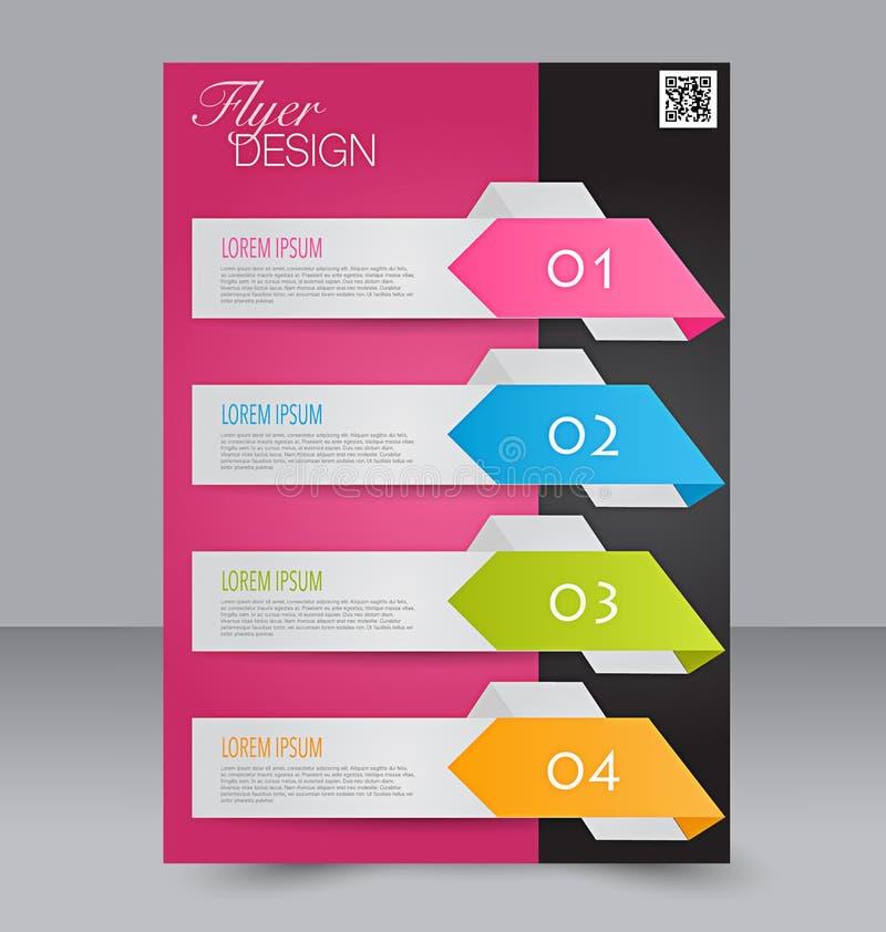 Calibre d'insecte Conception de brochure Couverture des affaires A4 illustration stock