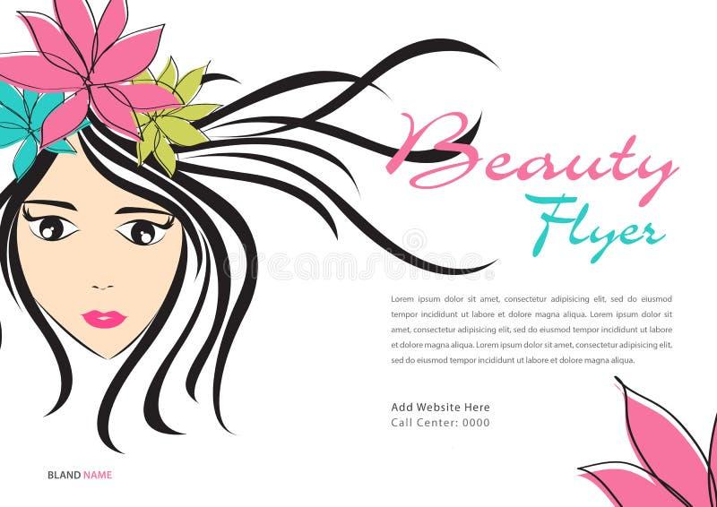 Calibre d'insecte de beauté, disposition d'annonces de magazine, bannière de cosmétiques, affiche, contexte, panneau d'affichage, illustration libre de droits