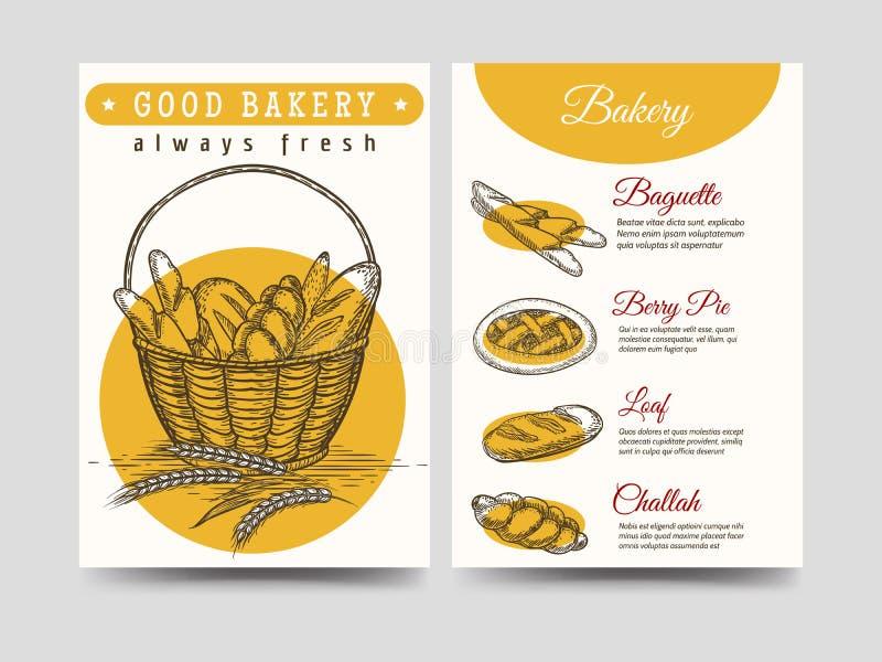 Calibre d'insecte de brochure de pâtisseries illustration de vecteur