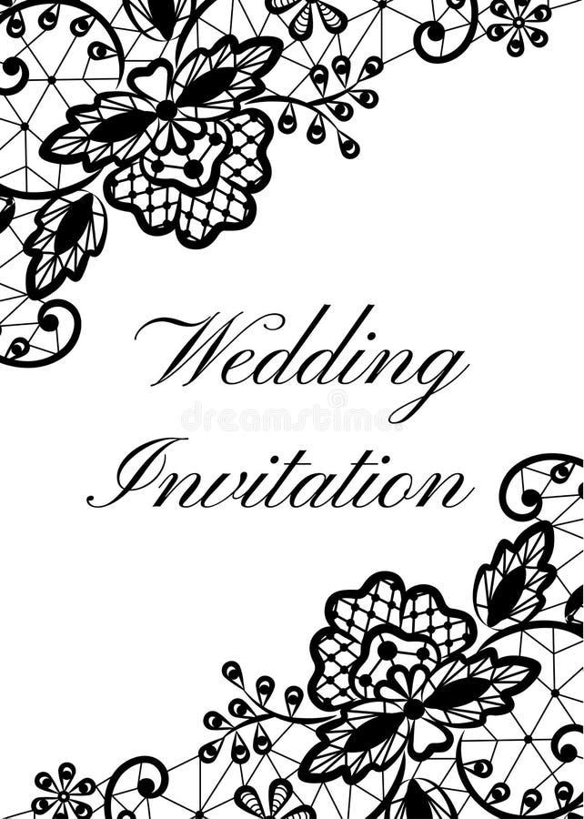 Calibre d'invitation de mariage illustration de vecteur