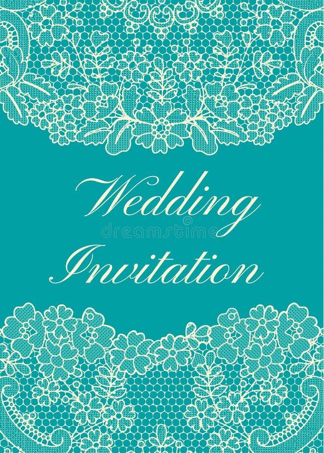 Calibre d'invitation de mariage illustration stock