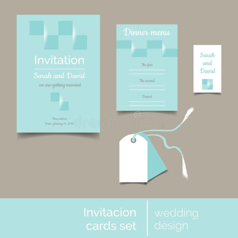 Calibre d'invitation de mariage photo libre de droits
