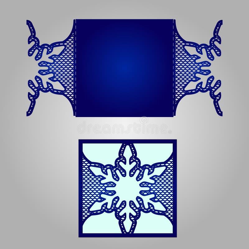 Calibre d'invitation de mariage de coupe de laser illustration libre de droits