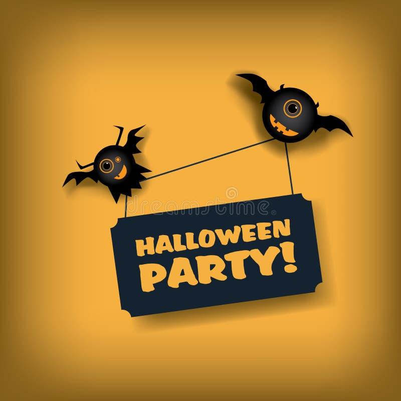 Calibre d'invitation de partie de Halloween vacances illustration de vecteur