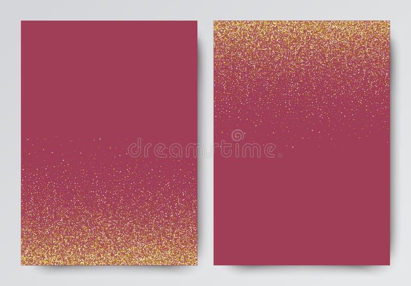 Calibre d'invitation de scintillement d'or de Rose avec des étincelles pour des événements photo stock