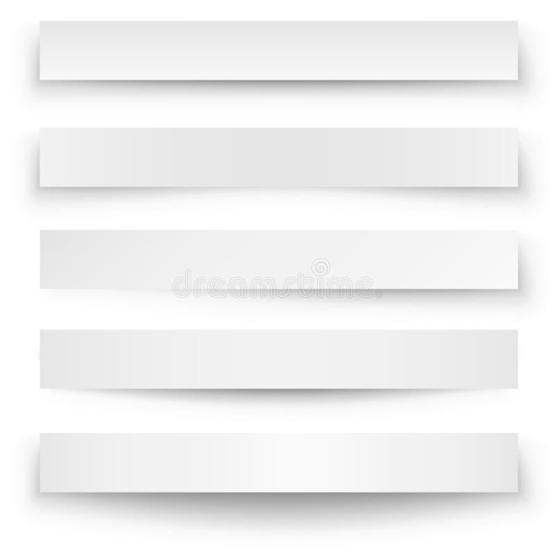 Calibre d'ombre de bannière illustration stock