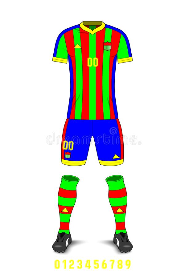 Calibre d'uniformes du football illustration de vecteur