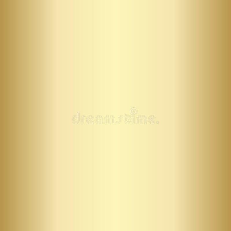 Calibre d'or vide réaliste, brillant, métallique léger de gradient Illustration de vecteur illustration libre de droits