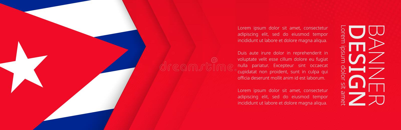 Calibre de bannière avec le drapeau du Cuba pour le voyage, les affaires et autre de la publicité illustration libre de droits