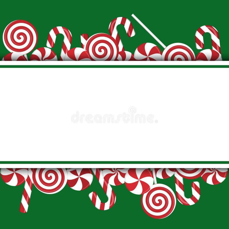 Calibre de bannière de caramel illustration de vecteur