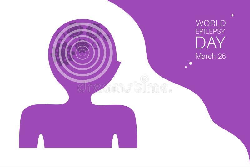 Calibre de bannière de vecteur de jour d'épilepsie du monde illustration de vecteur