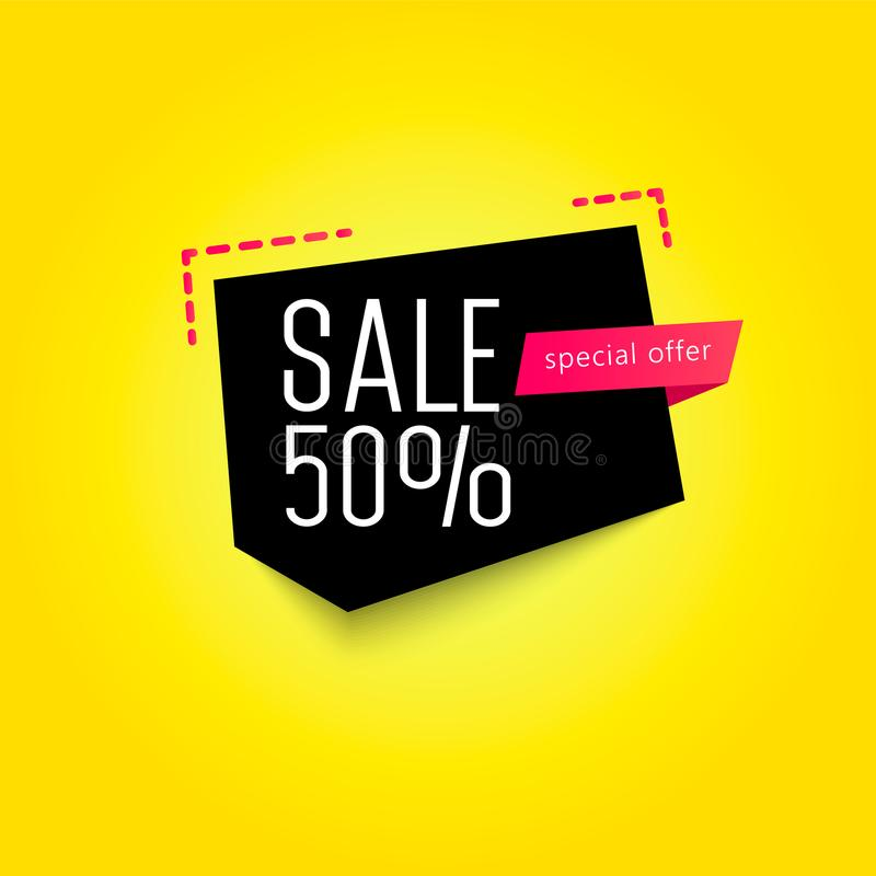 Calibre de bannière de vente 50  Illustration de vecteur illustration stock