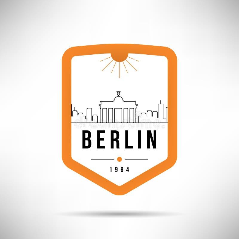 Calibre de Berlin City Modern Skyline Vector illustration libre de droits