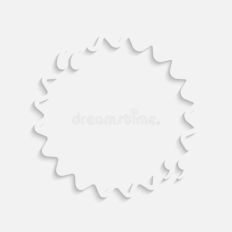 Calibre de blanc de citation de bulle de la parole de cercle de vecteur illustration libre de droits