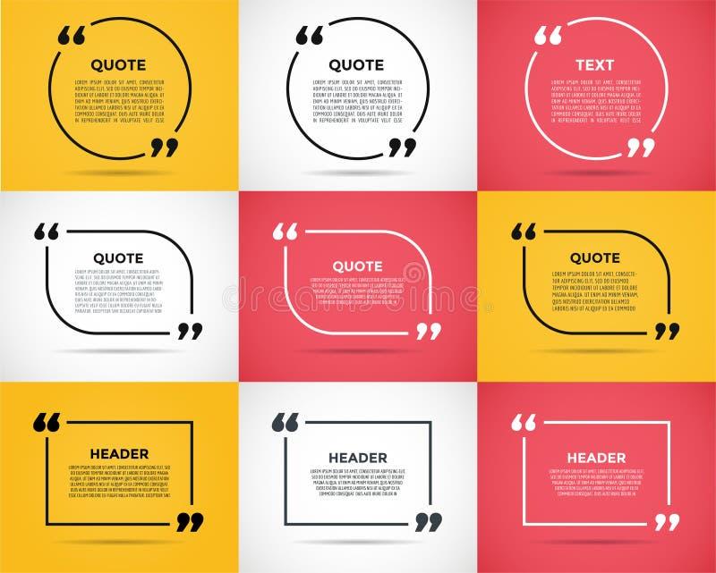 Calibre de blanc de citation d'examen de site Web illustration stock