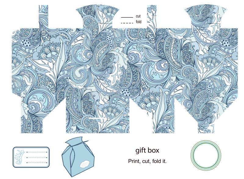 Calibre de boîte-cadeau illustration de vecteur