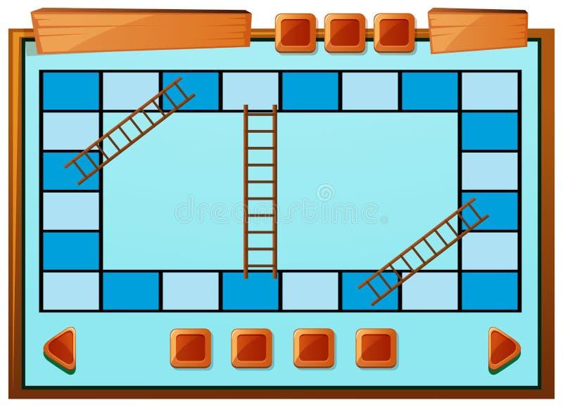 Calibre de Boardgame dans la couleur bleue illustration libre de droits